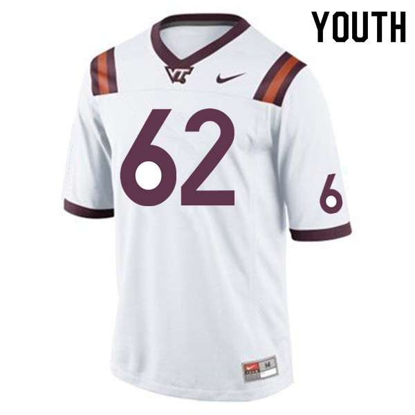 Youth #62 D'Andre Plantin Virginia Tech Hokies College Football Jerseys Sale-Maroon